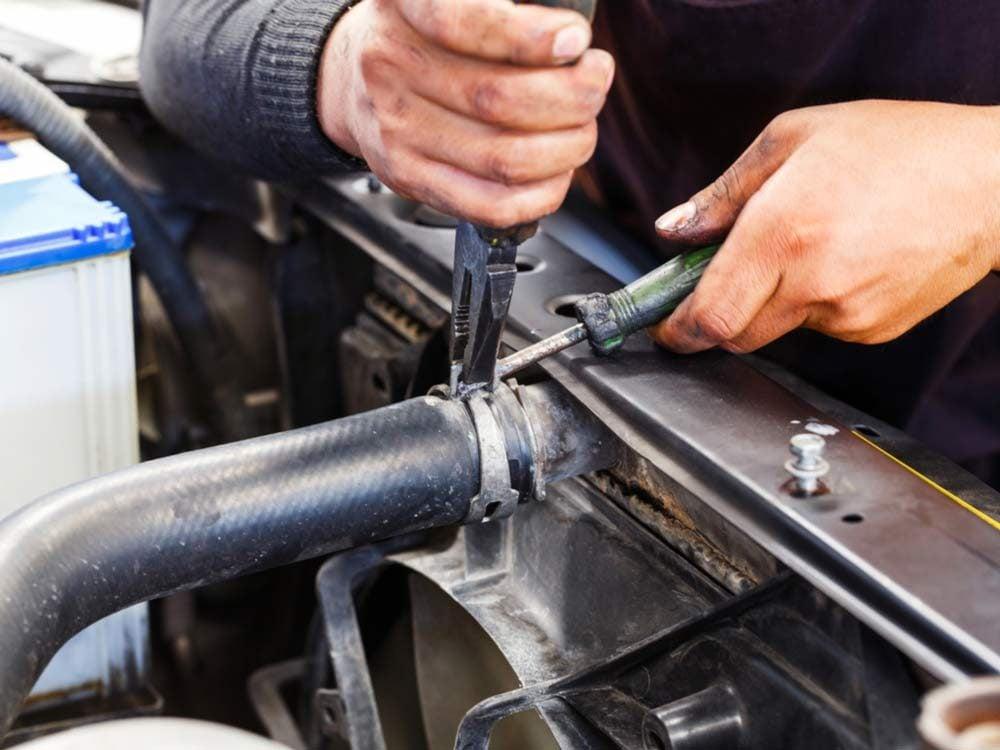 Replacing coolant hose
