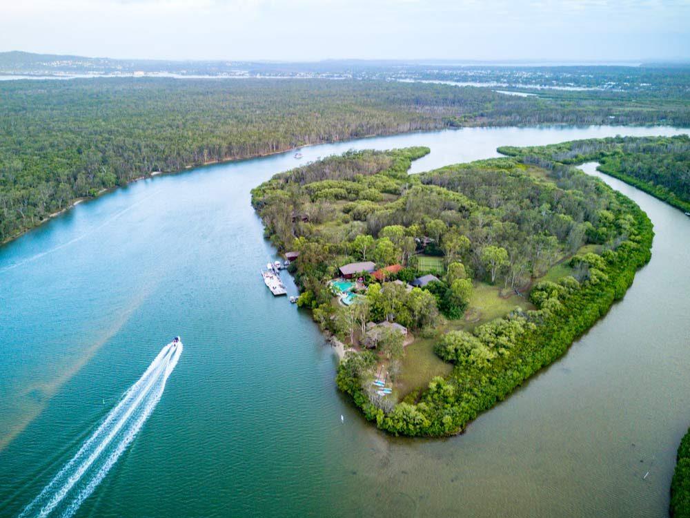 Makepeace Island in Queensland, Australia