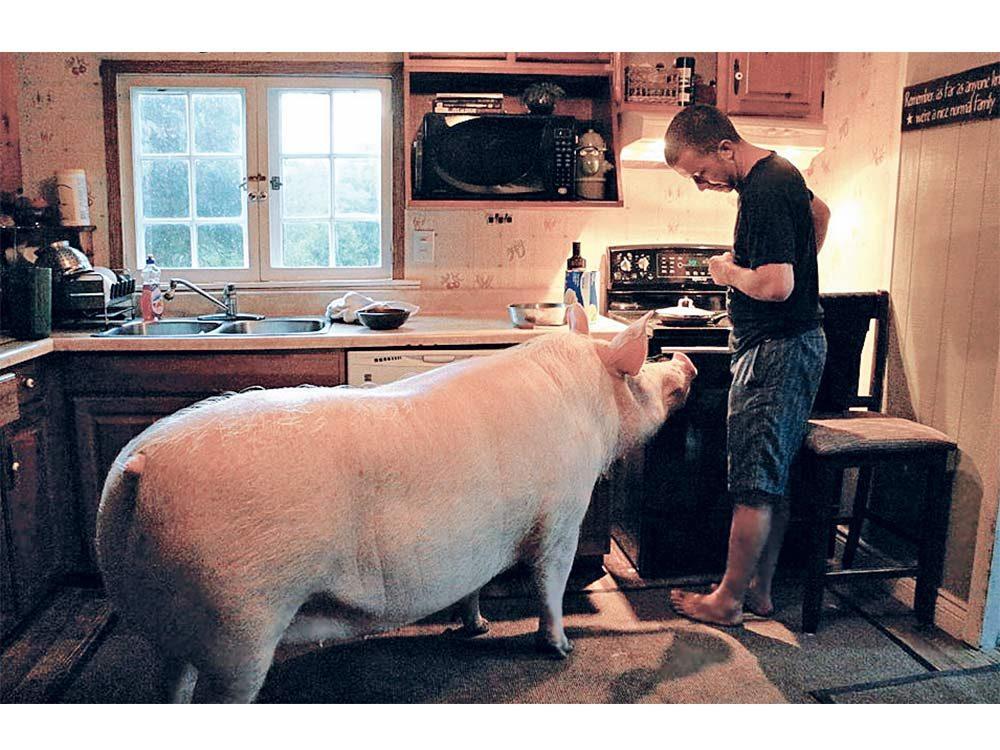 Esther preparing meal