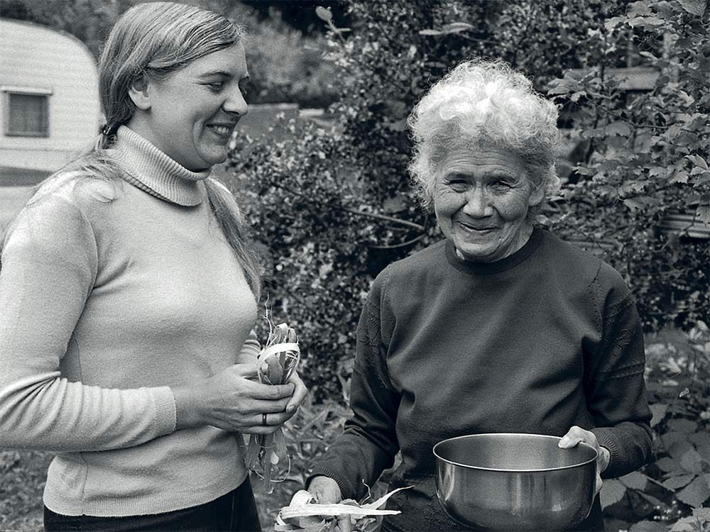 Nancy Turner with First Nations Elder Annie York