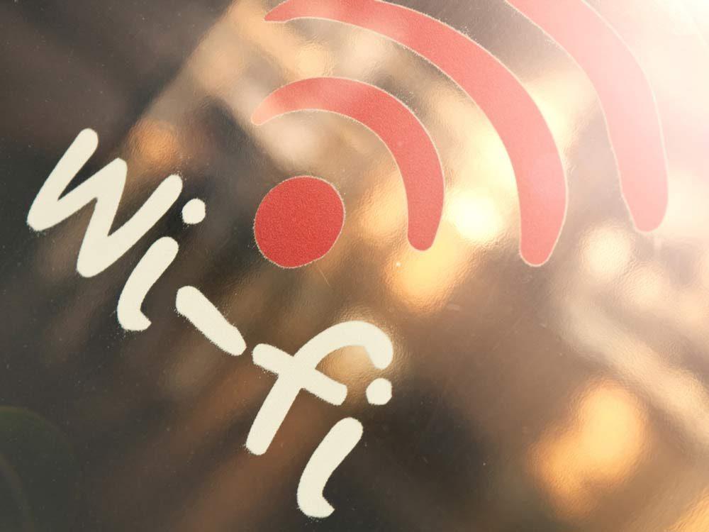 Wi-fi drawing on shop window