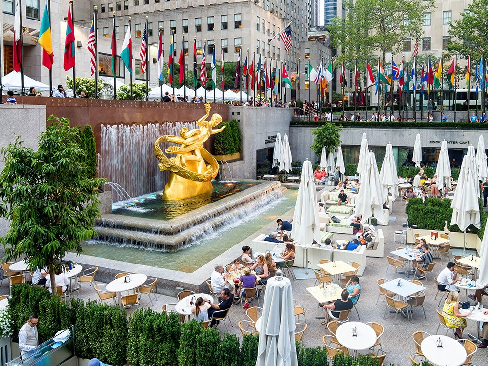 Prometheus statue, Rockefeller Center, New York City