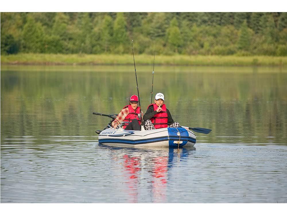 Camping at Medicine Lake, Alberta