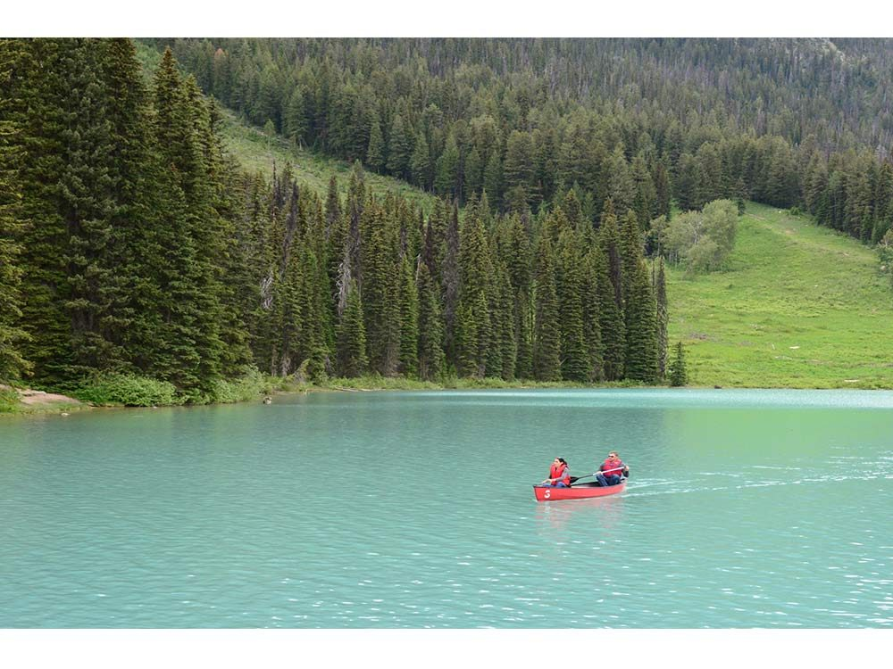 Paddling in Banff National Park