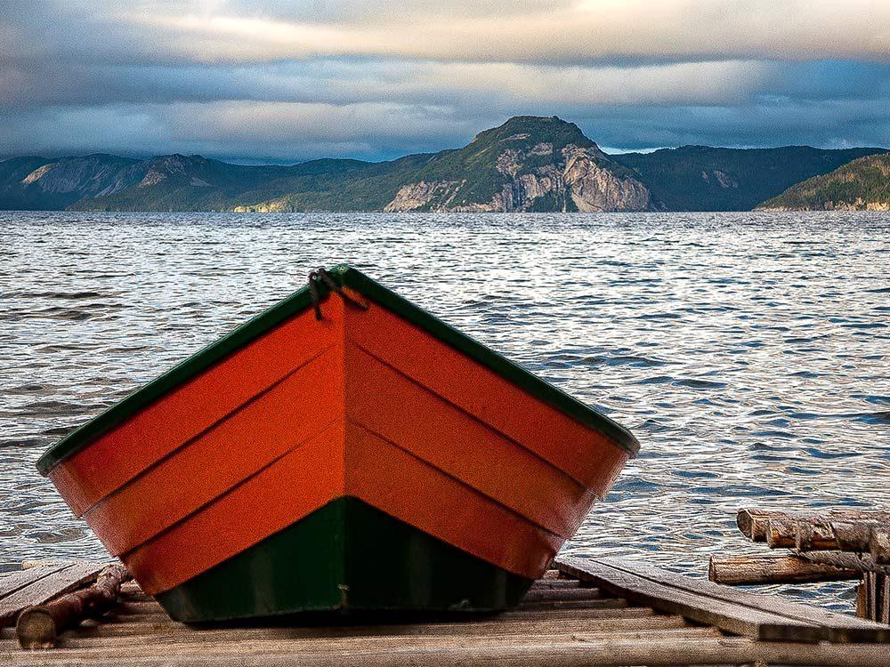 Fishing at Cox Cove, Newfoundland