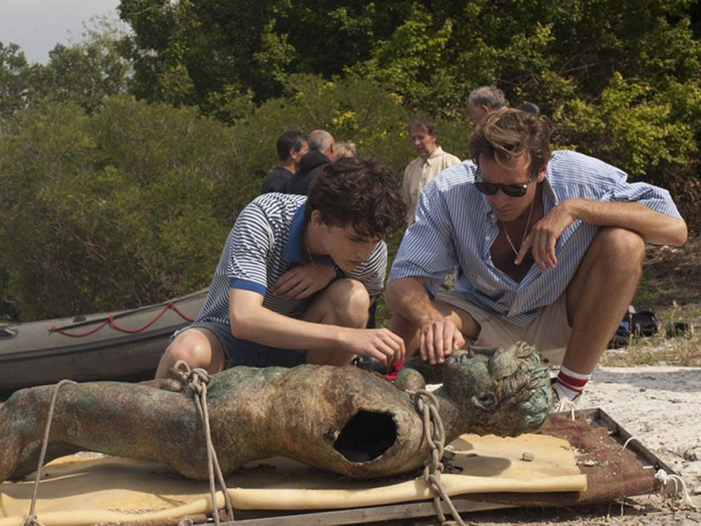 """Timothée Chalamet and Armie Hammer in """"Call Me by Your Name"""""""