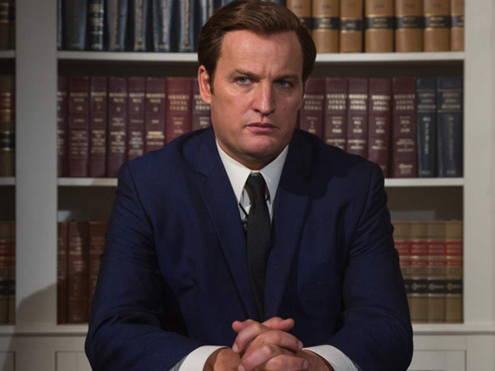 "Jason Clarke as Senator Ted Kennedy in ""Chappaquiddick"""