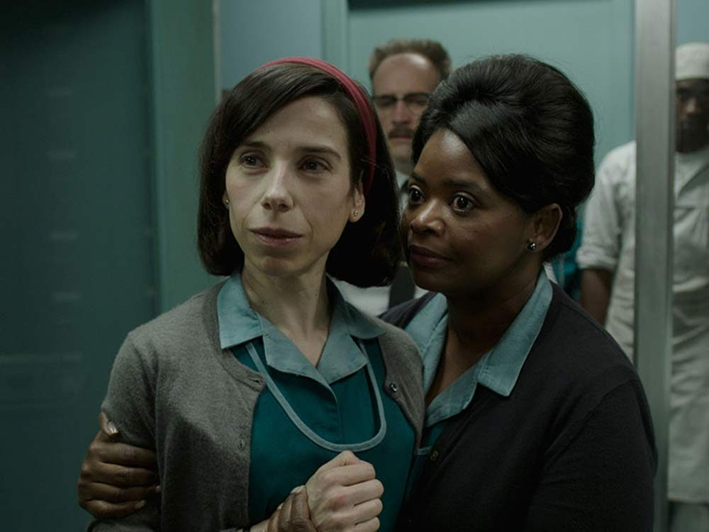 "Sally Hawkins and Octavia Spencer in ""The Shape of Water"""