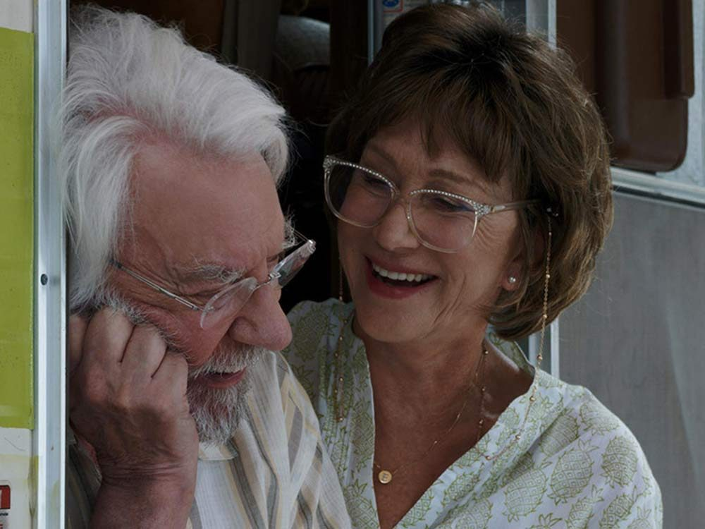 "Donald Sutherland and Helen Mirren in ""The Leisure Seeker"""