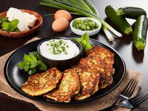 Zucchini-Feta Pancakes