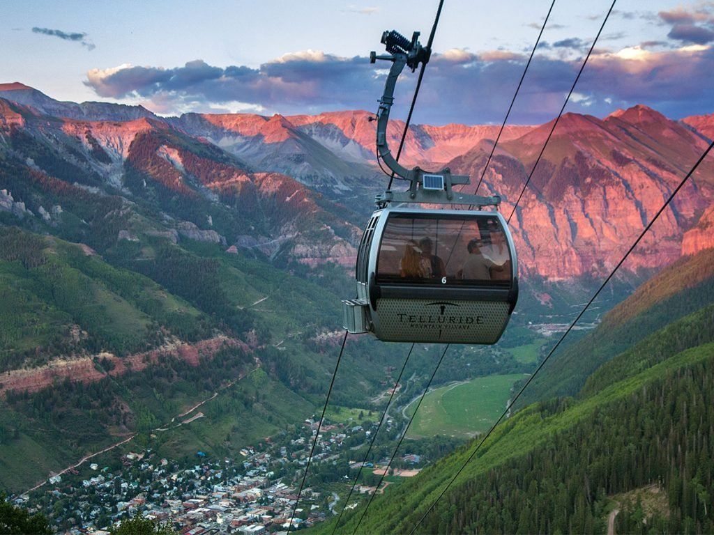 Scenic views from the Telluride gondola