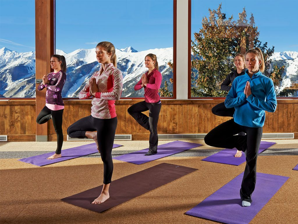 Mountain yoga in Telluride