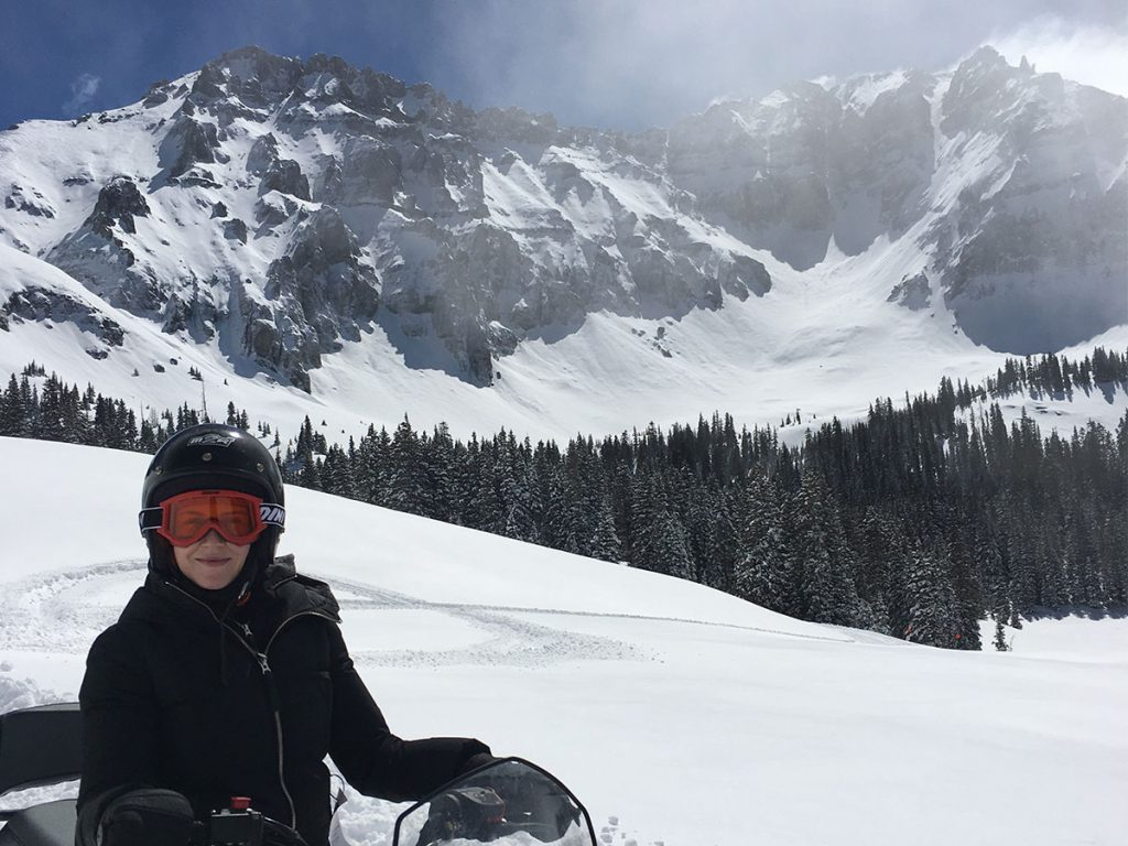 Snowmobiling in Alta Lakes, Telluride