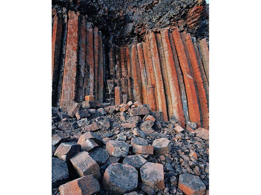 Basalt columns in the Cardiff Mountain Ecological Reserve