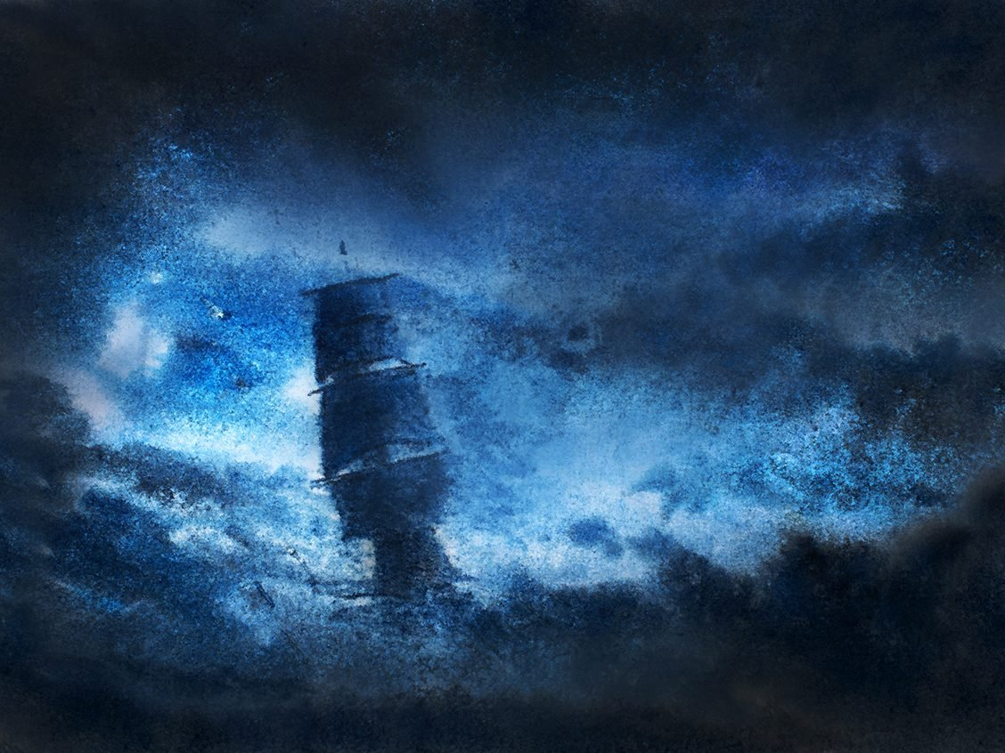 Creepy Canada facts - ghost ship painting