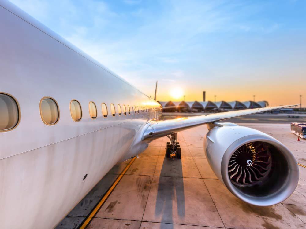 Airplane preparing for take-off