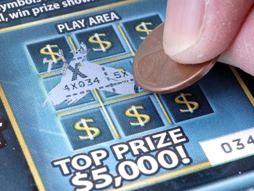 Scratch-off lottery ticket