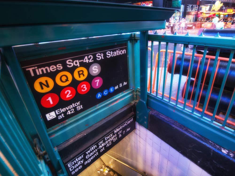 New York subway entrance