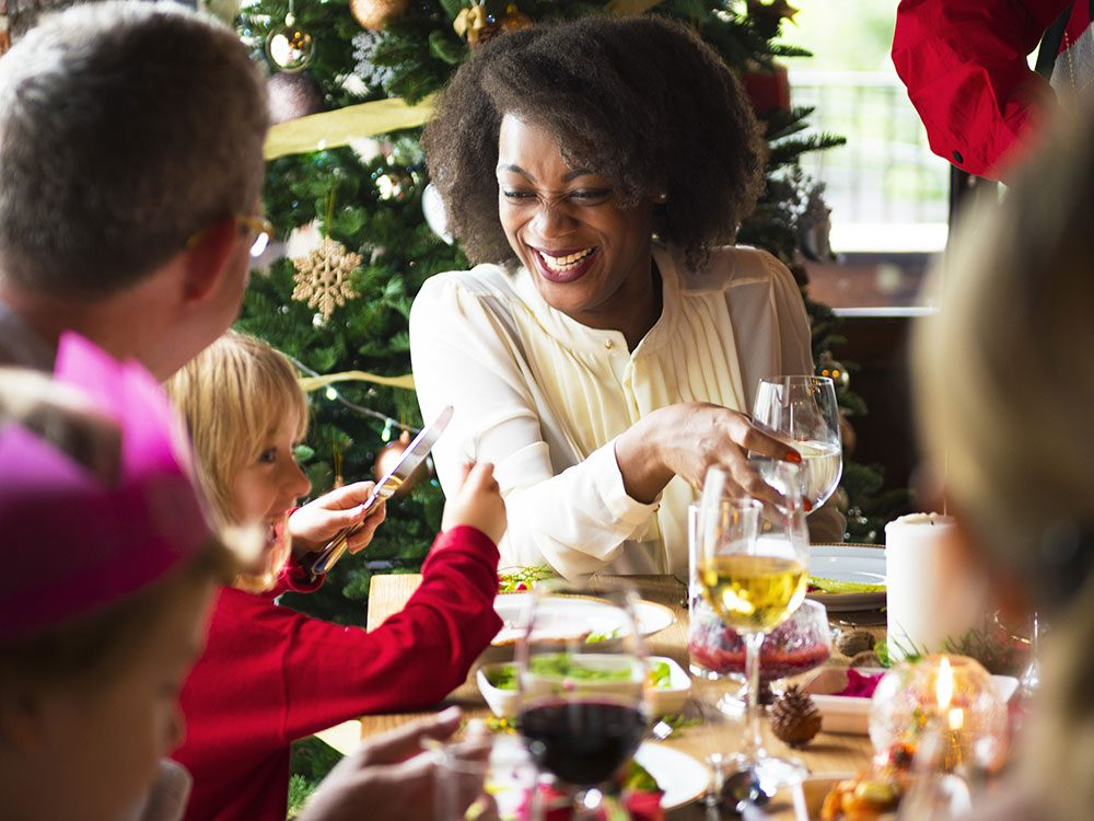 Focus on the reason you've gathered for holiday dinner