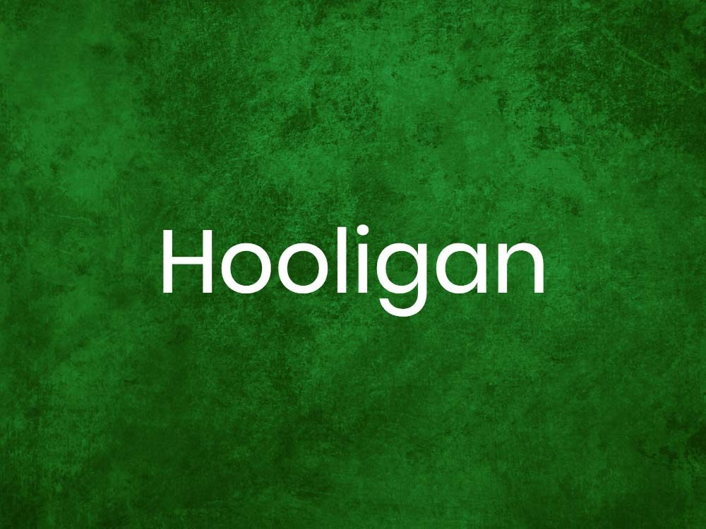 Hooligan is one of many Gaelic words