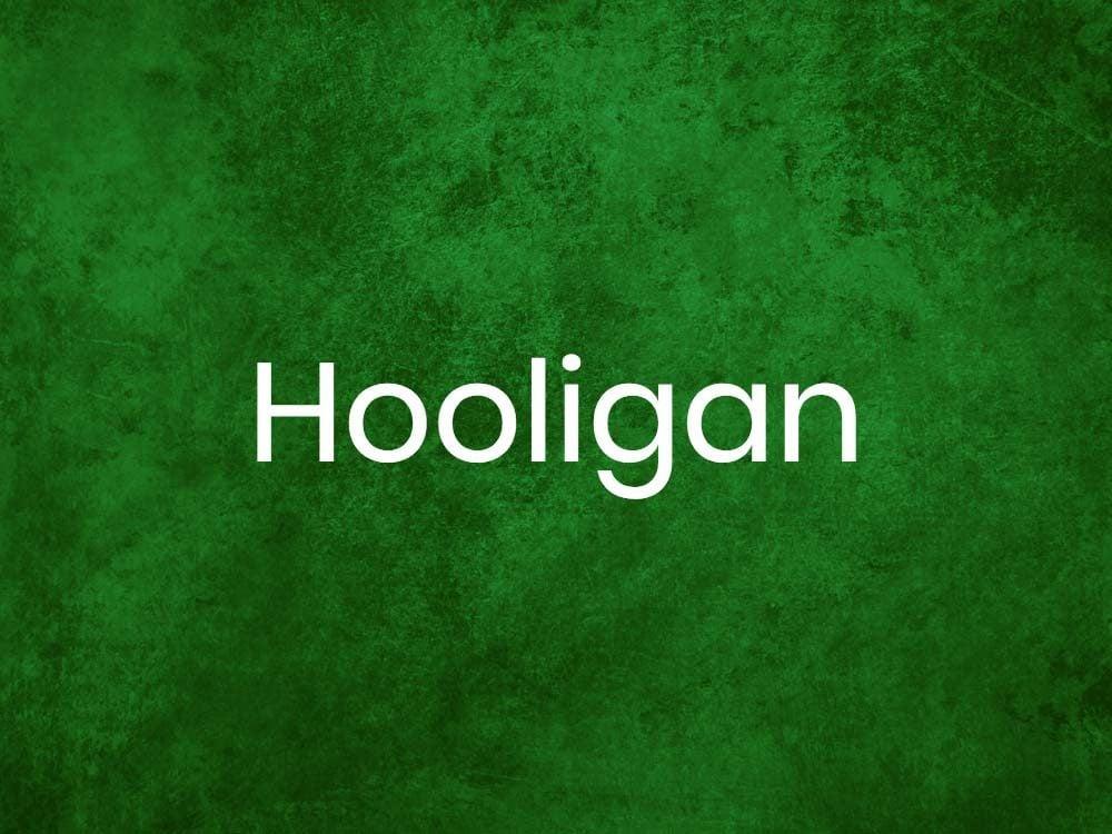 Hooligan is one of many Gaelic words
