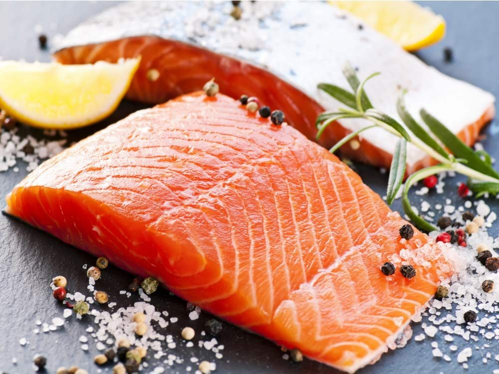 Salmon fillet with spices