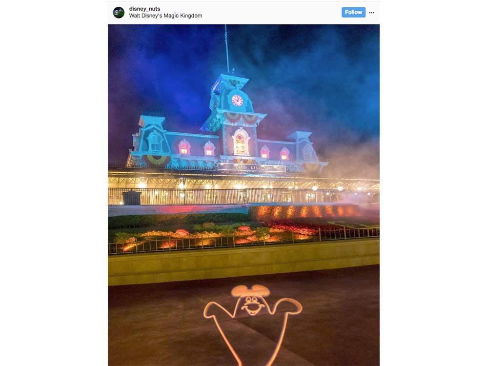 Halloween lights at Disney
