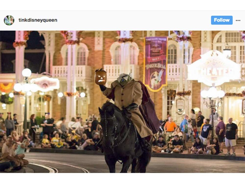 Headless horseman at Disney