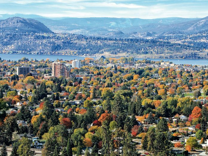 View of Kelowna from Dilworth Mountain Park
