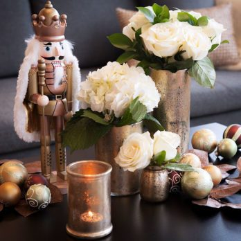Dollar Store Decor: Leigh-Ann Allaire Perrault's DIY Mercury Glass Vases