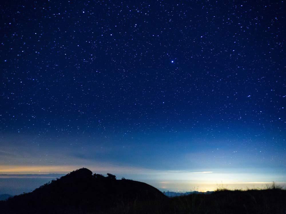 Starry evening sky
