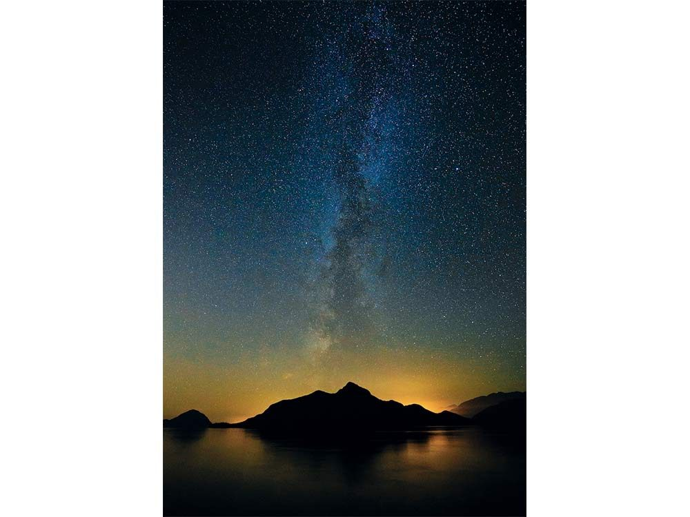 Milky Way in Anvil Island, British Columbia