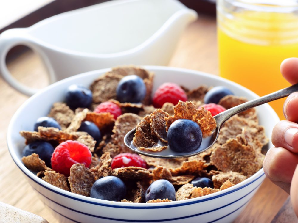 Healthy cereal for breakfast