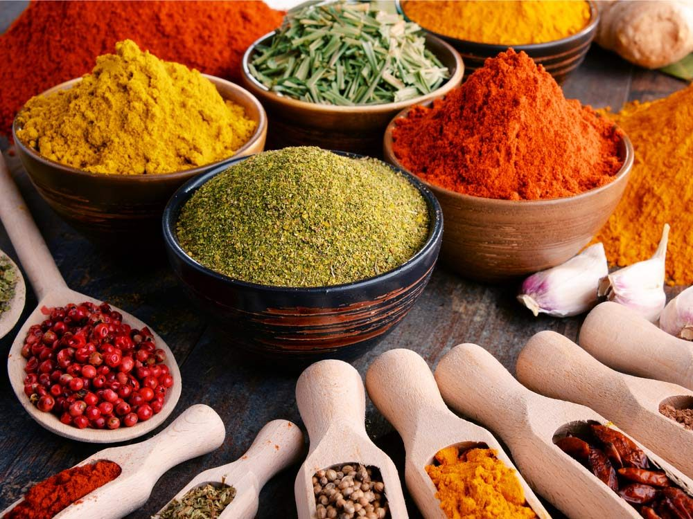 Assortment of cooking spices
