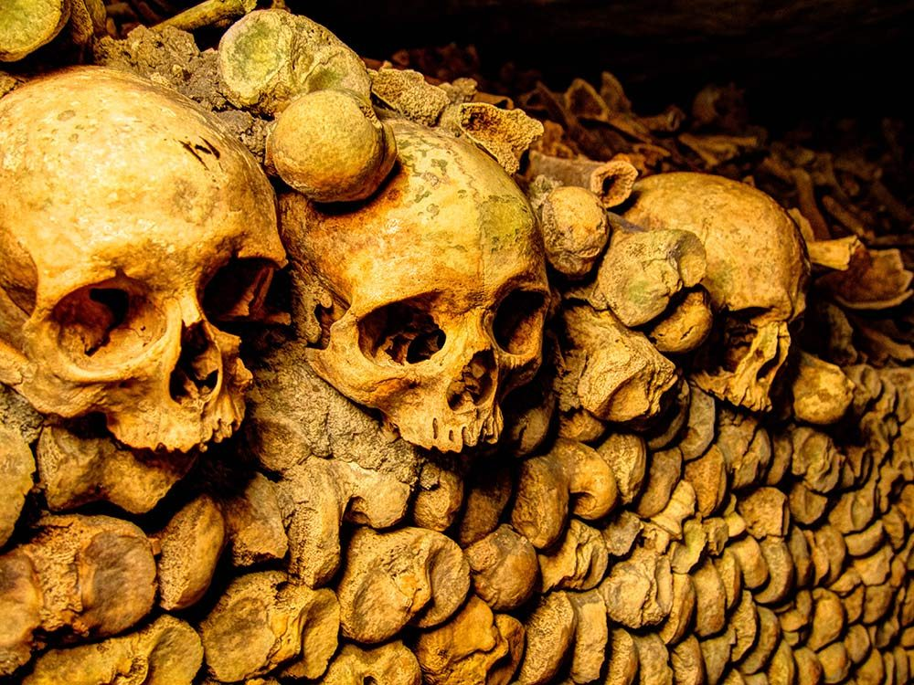 The Catacombs of Paris is one of the spookiest Paris attractions