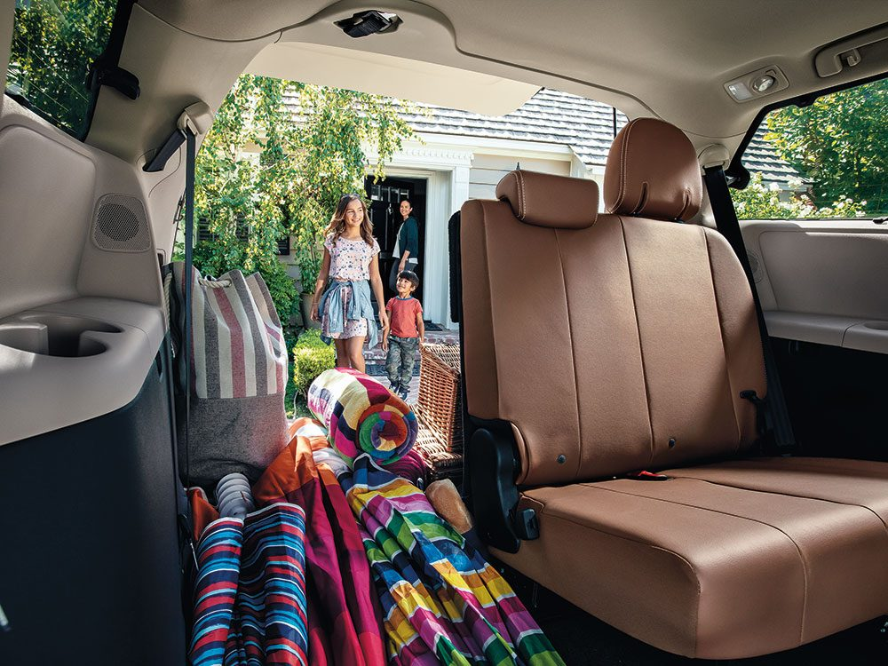 Lots of room in the 2018 Toyota Sienna
