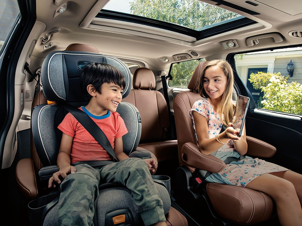 Entertainment options in the new Toyota Sienna