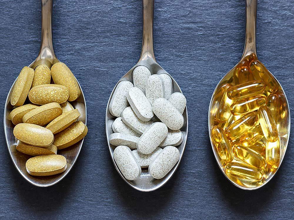 Assortment of vitamins