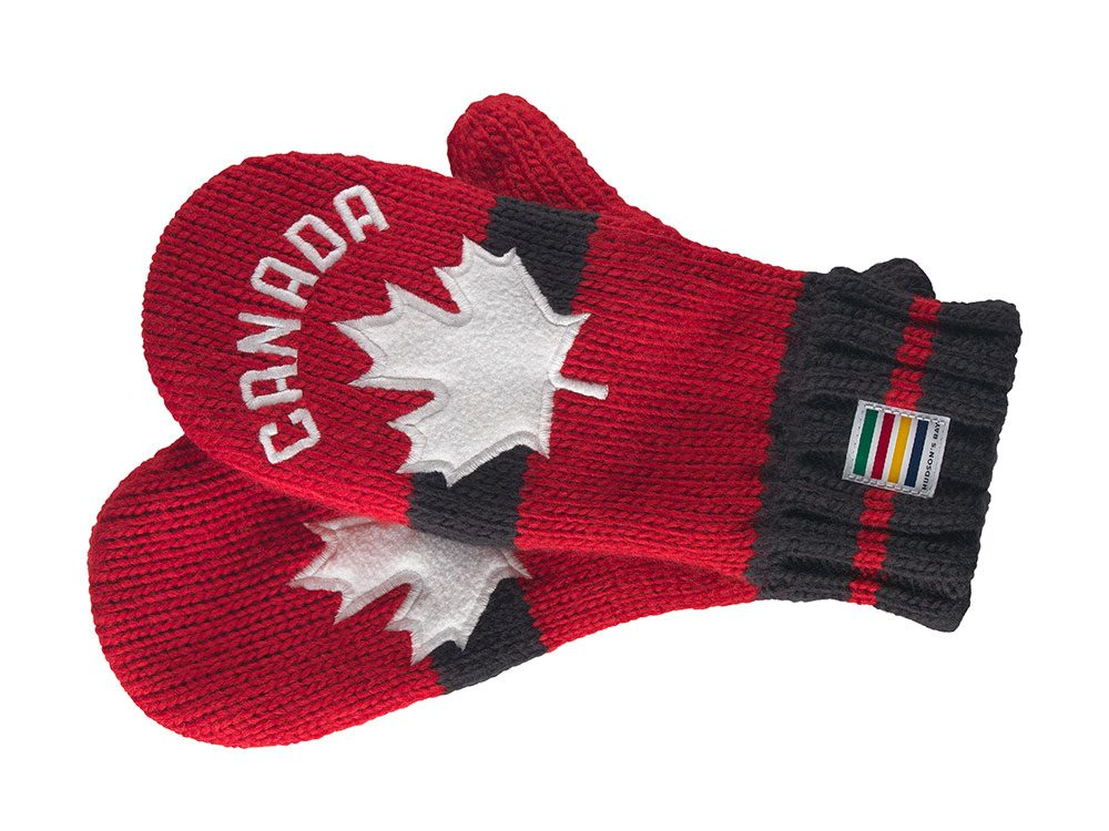 Olympic Collection red mitts, Hudson's Bay