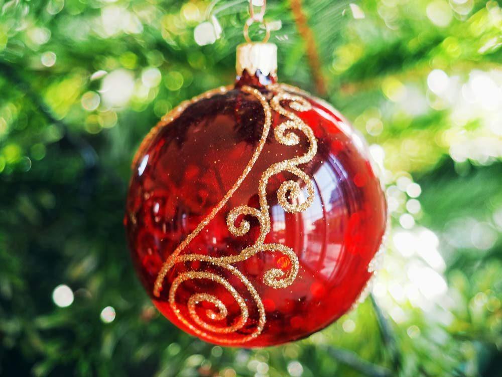 Christmas ornament close-up