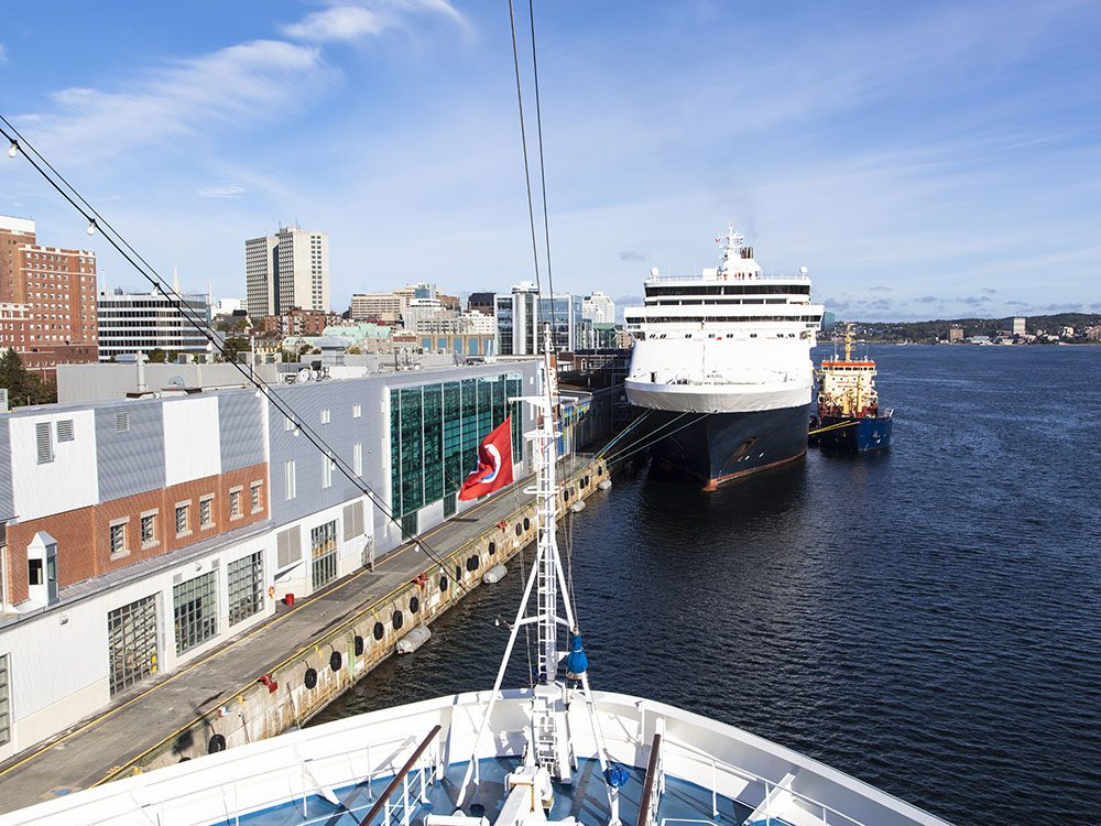 Cruise ship in the Port of Halifax, Canada
