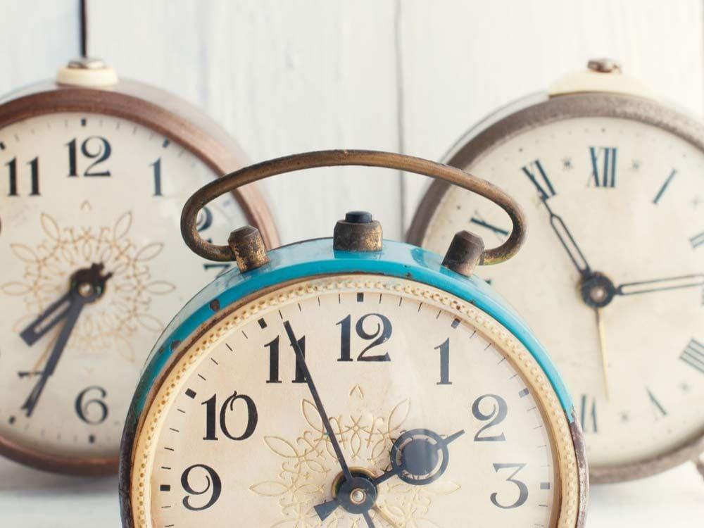 Three vintage clocks