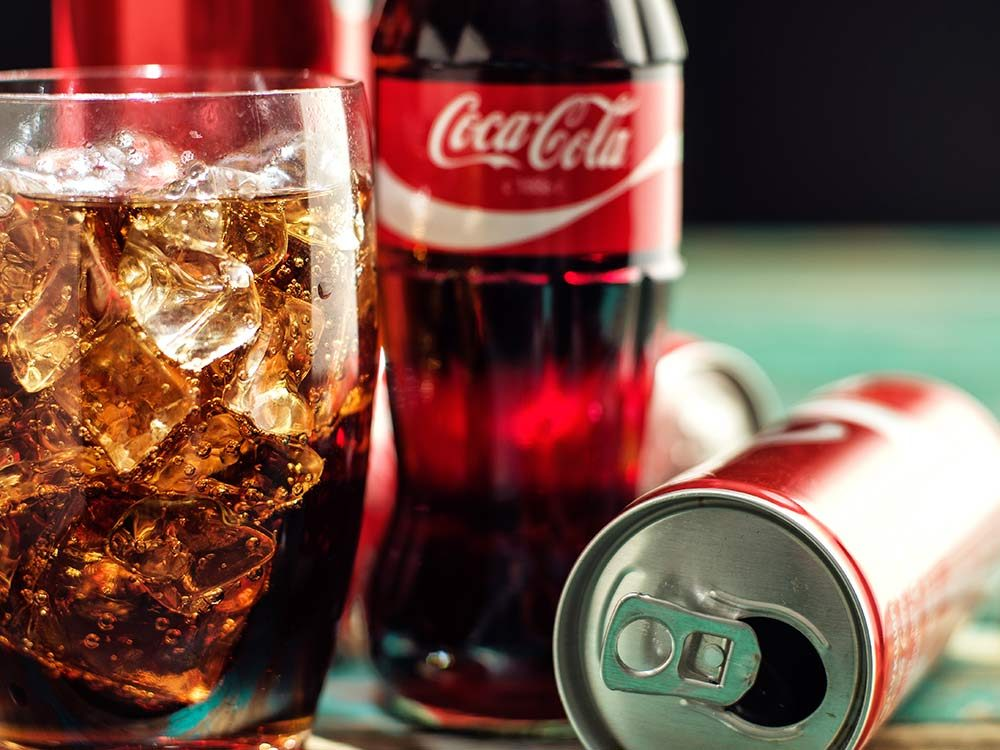 Close-up of Coca Cola