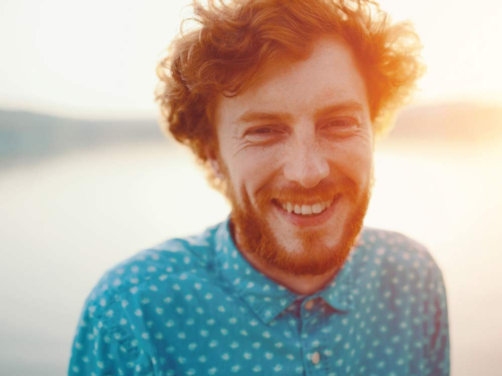 Red haired man with beard