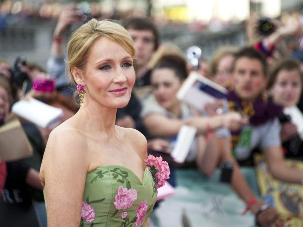 J.K. Rowling at premiere of Harry Potter