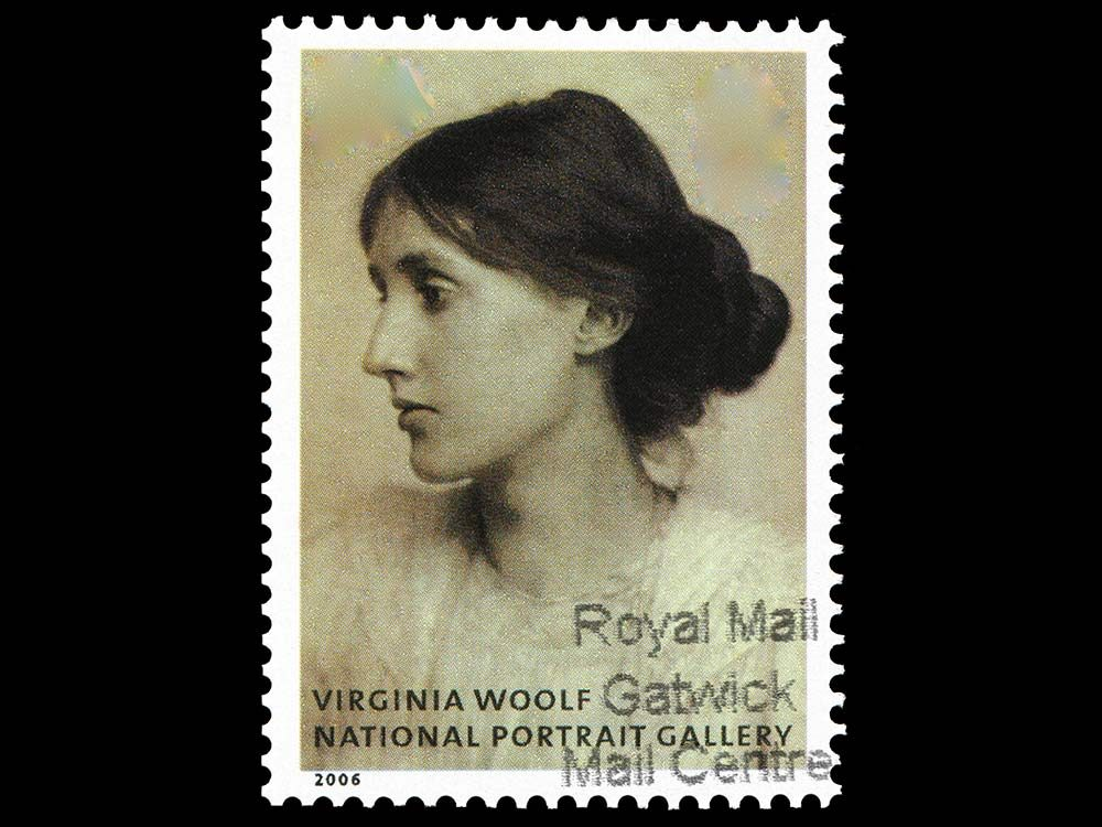 Virginia Woolf postage stamp