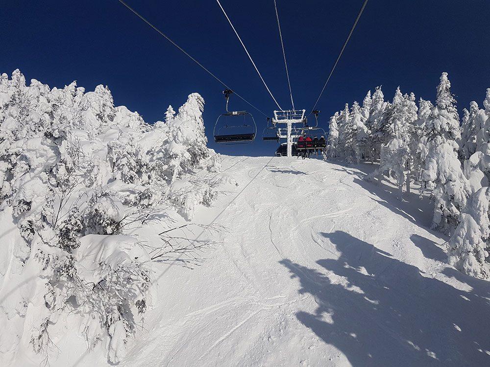 French phrases for the ski lift, Mont Tremblant, Quebec