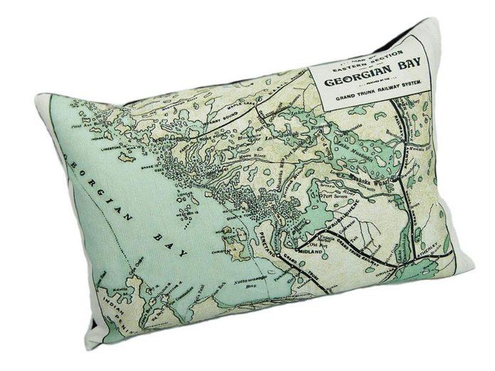 Georgian Bay pillow, Vintage Map Co