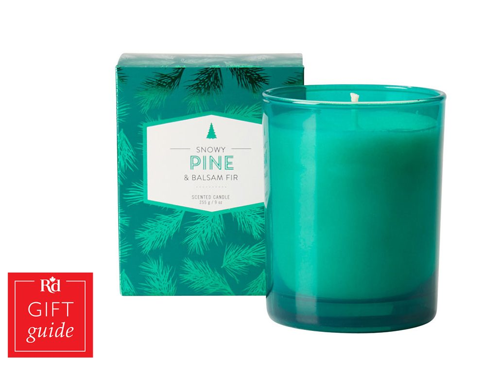 Canadian Gift Guide: Chapters Indigo pine scented candle
