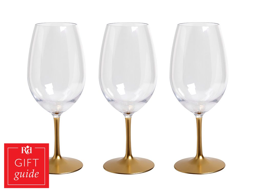 Canadian Gift Guide: HomeSense acrylic wine glasses